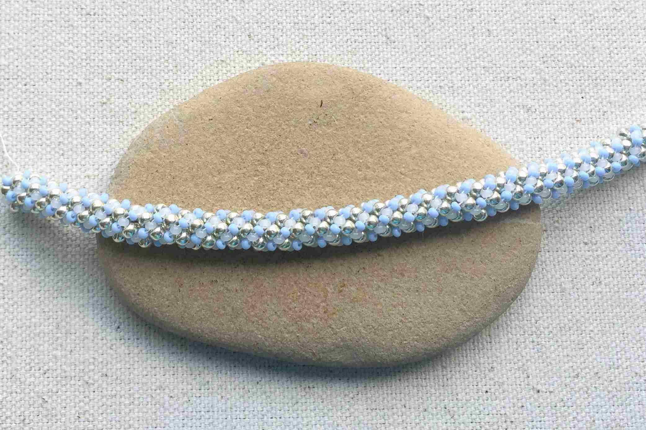 Russian spiral stitch rope