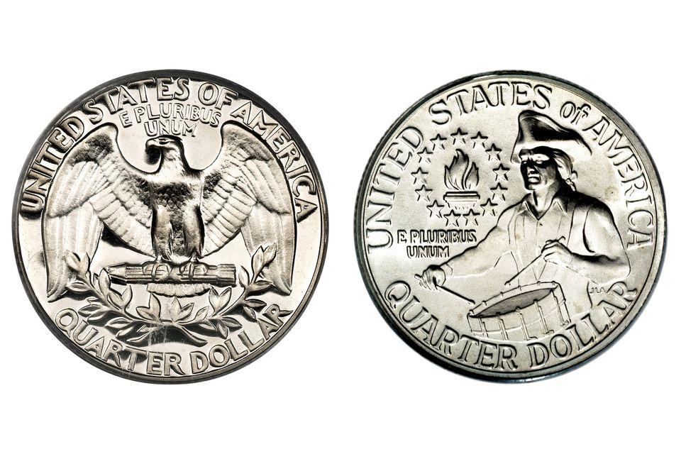 The Reverse Designs of the Washington Quarter: Regular and Bicentennial