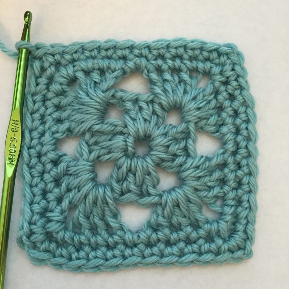 Close up of single crochet edging for Afghans