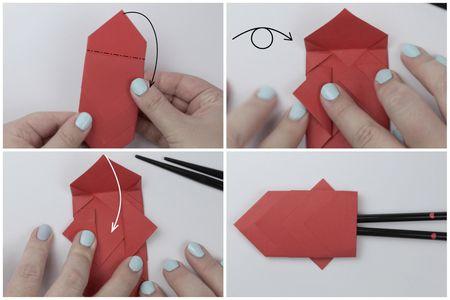 Origami Carp Chopstick Wrapper Tutorial
