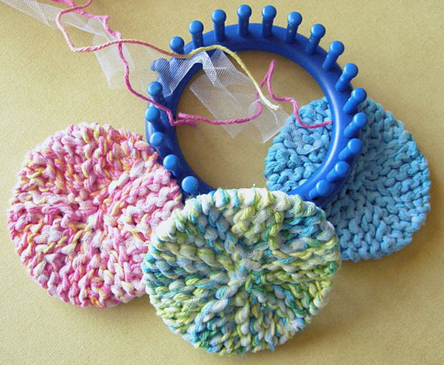 Loom-Knit Scrubby-Os Pattern