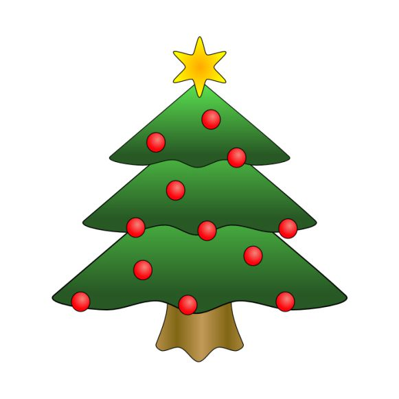 Image Christmas Tree.The Best Free Christmas Tree Clip Art Images
