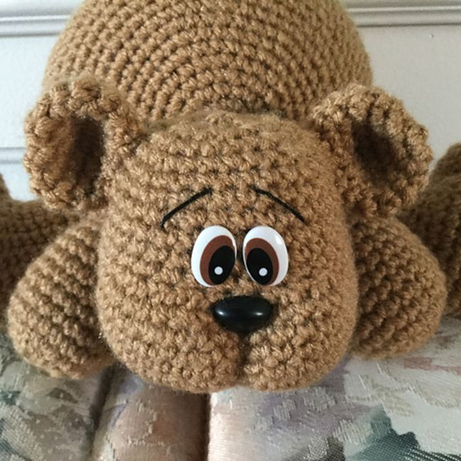 Crochet teddy bear Bearnando - Ecological Toy - DucknRabbit | 650x650