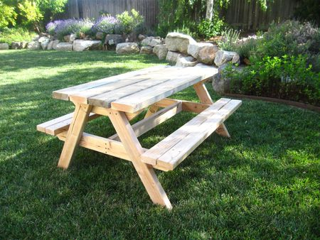 Free Picnic Table Plans In All Shapes And Sizes - 8 foot picnic table for sale