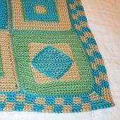 Checkered Crochet Afghan Edging