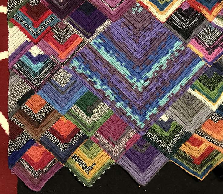 Scrap Yarn Crochet Blanket