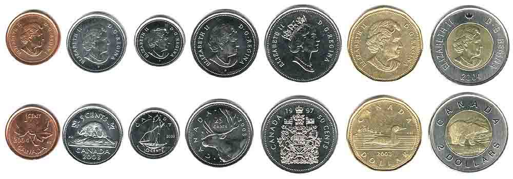 These coins are currently circulating in Canada as money.