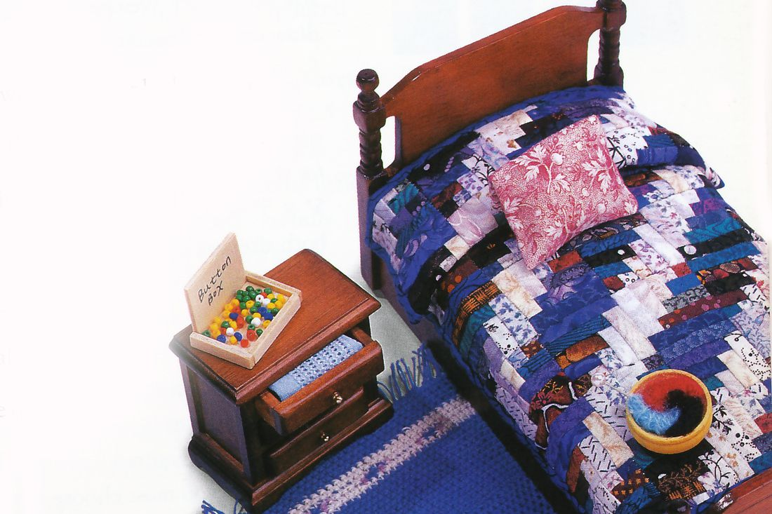 Dollhouse Quilt on Bed