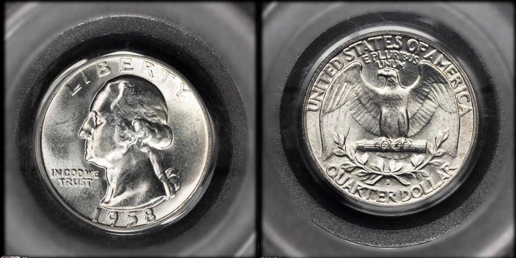 Washington Quarter Graded Mint State-63 (MS63)