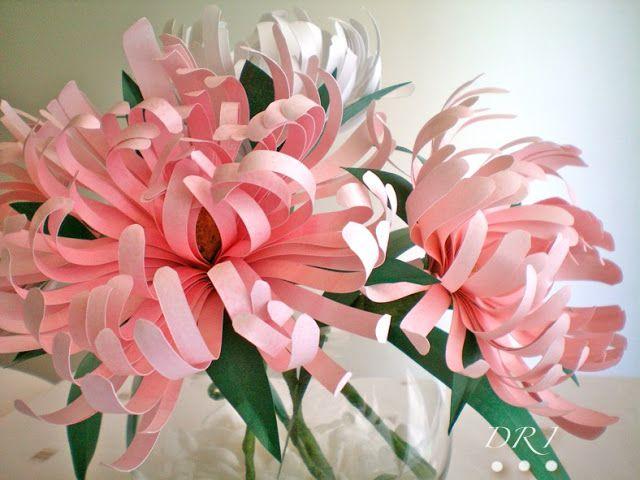 DIY Spider Chrysanthemums