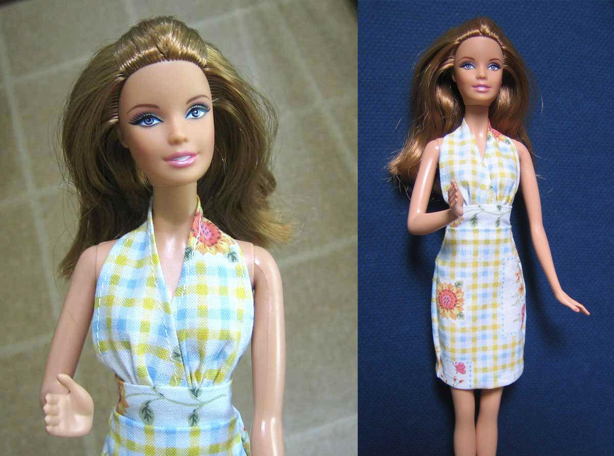 Halter Top Dress Pattern For Barbie