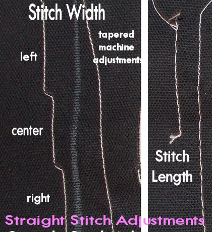 How To Adjust Stitch Length And Width On Sewing Machines Adorable Stitch Length Sewing Machine