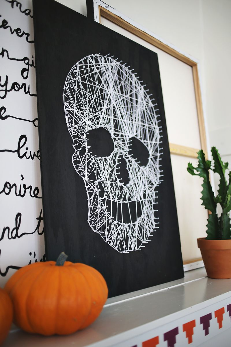 DIY Skull String Art