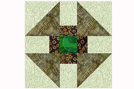 Greek Cross Quilt Block and Quilt Pattern
