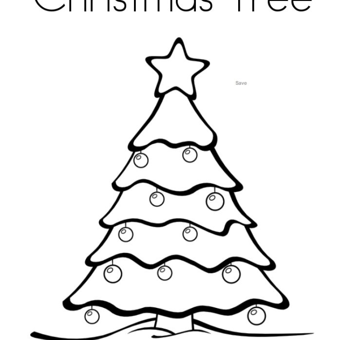 twisty noodles christmas coloring pages for kids a decorated christmas tree