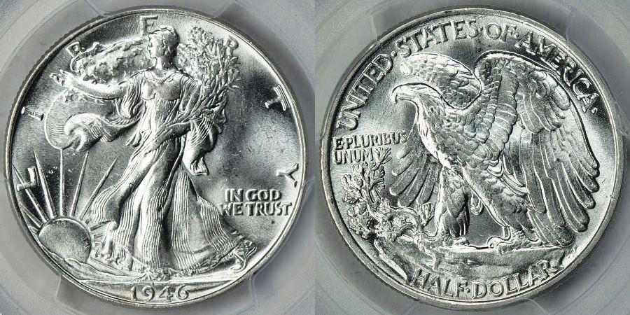 Walking Liberty Half Dollar Graded Mint State-63 (MS63)