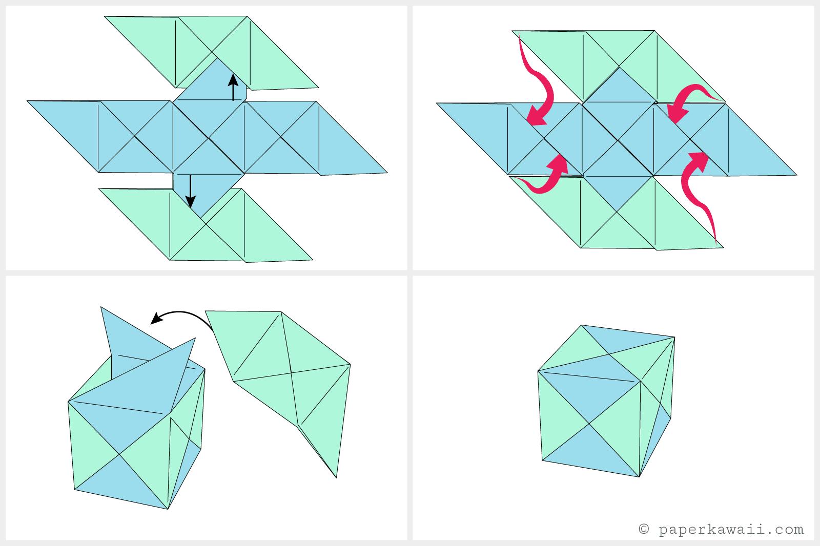 Marvelous How To Make A Modular Origami Cube Box Wiring Digital Resources Honesemecshebarightsorg