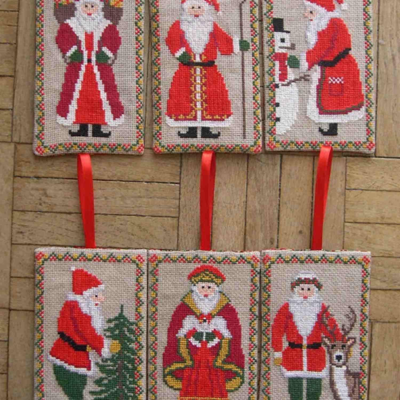 multiple Santa patterns