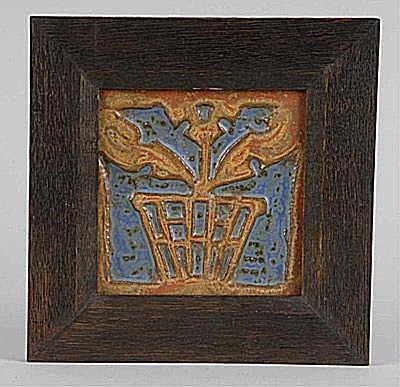 Rookwood Flower Pot Faience Tile