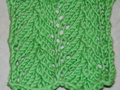 How To Knit Flemish Block Lace