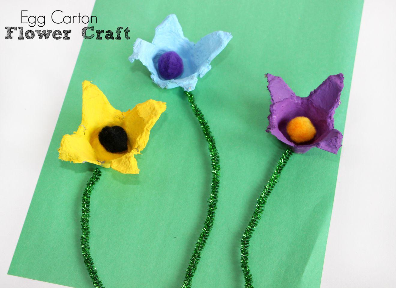 Egg Carton Flower Craft