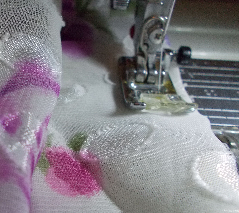 Sewing chiffon fabric