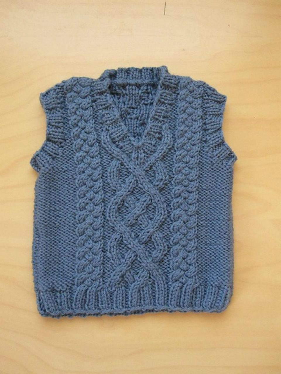 Little Aran Vest - Free Knitting Patterns