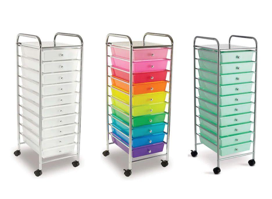 10 Drawer Rolling Cart