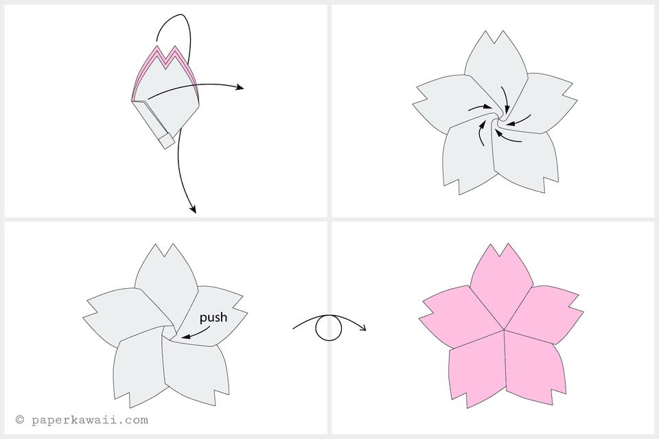 Origami - Cherry Blossom Flower - YouTube   640x960