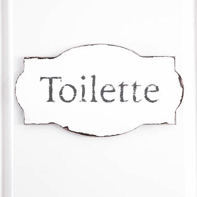 DIY bathroom decor ideas toilette sign