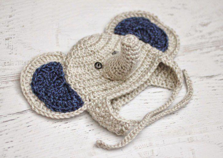 Crochet Baby Elephant Hat Free Pattern
