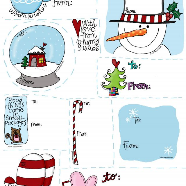 Printable Christmas Name Tags.40 Sets Of Free Printable Christmas Gift Tags