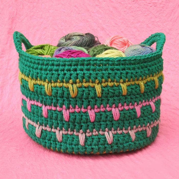Crochet Spring Basket Pattern
