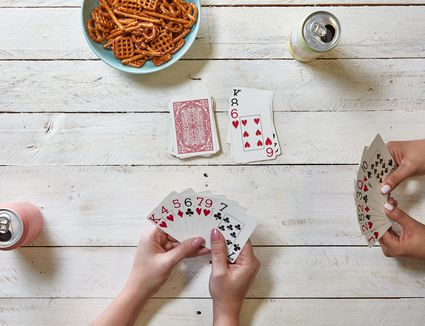 a game of gin in progress