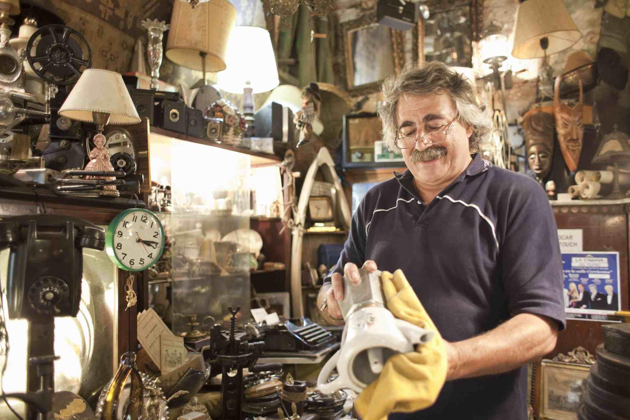 Polishing antiques