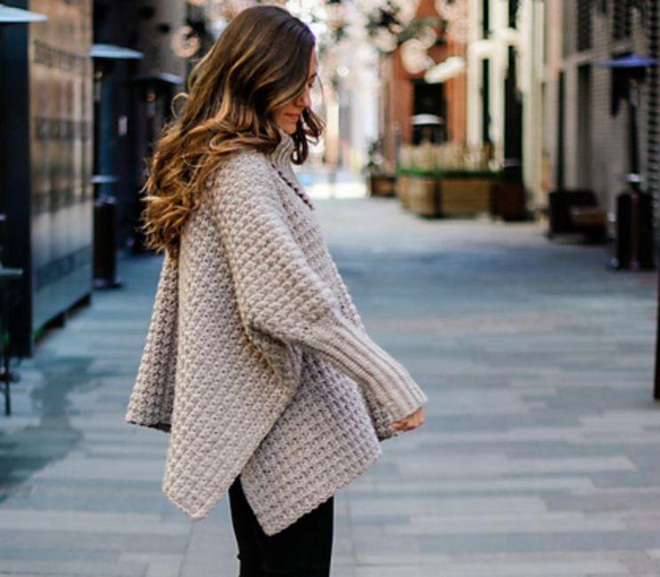 Crochet poncho sweater