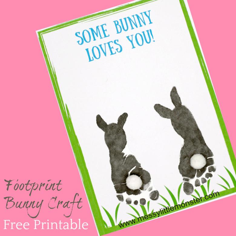 Bunny Footprint Card