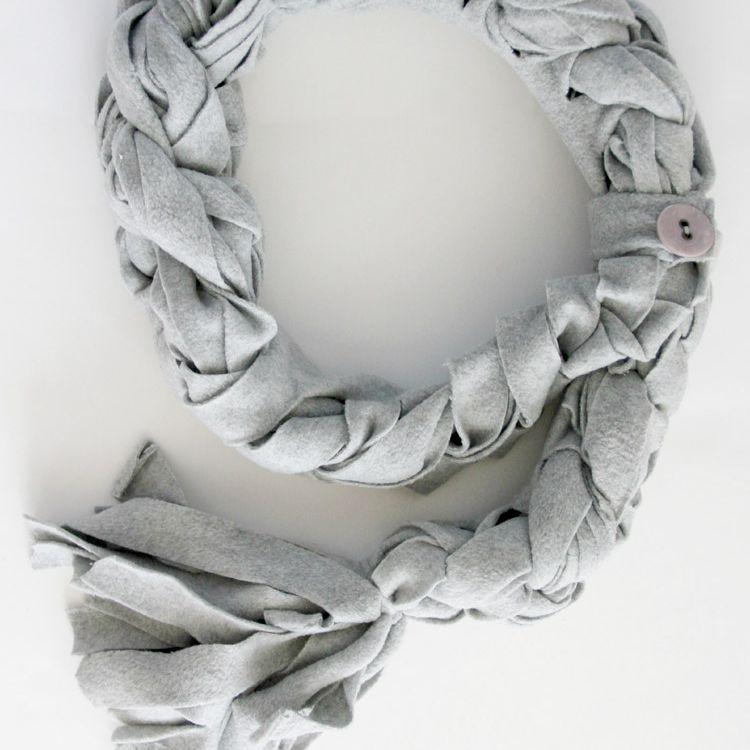 diy braided scarf tutorial