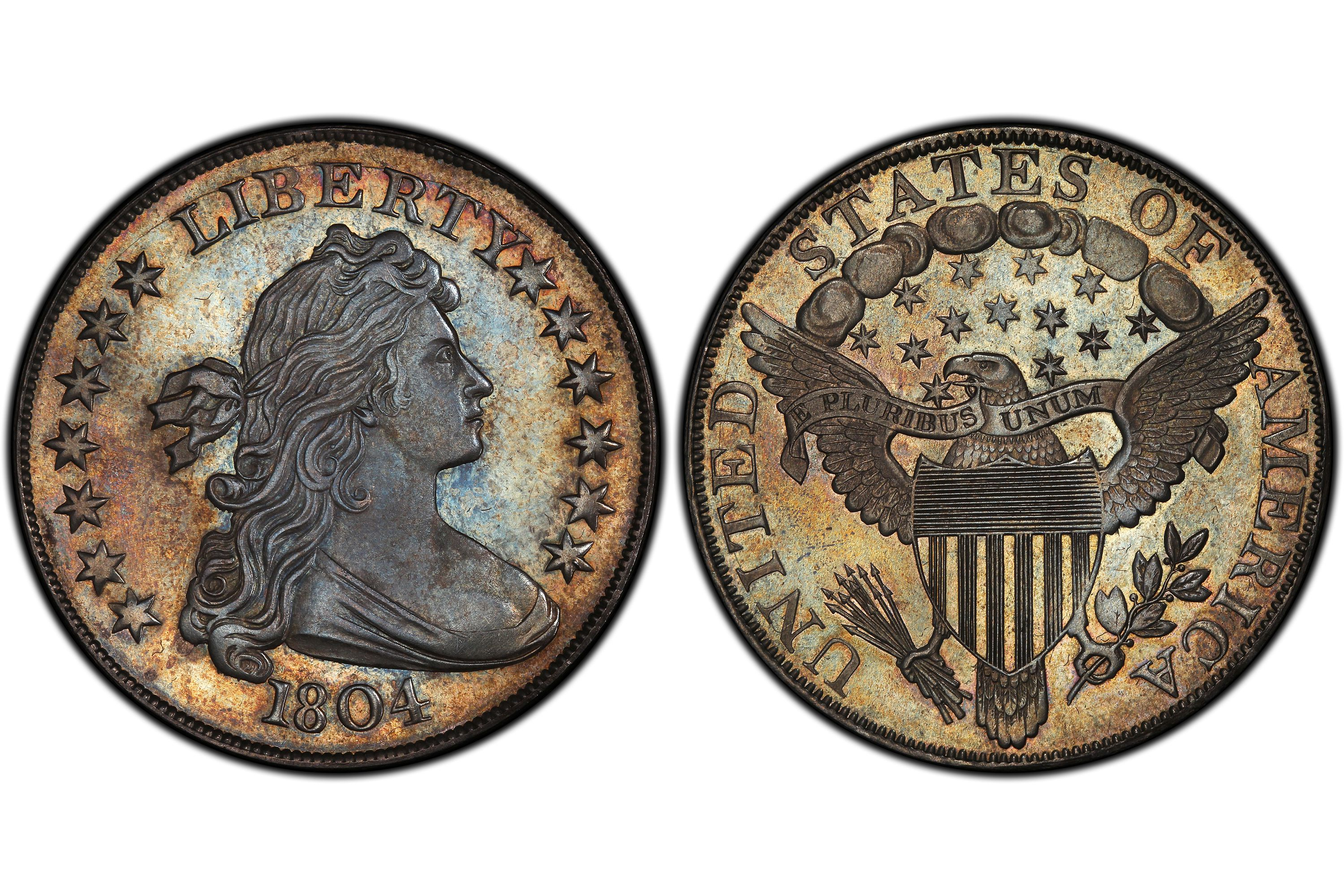 1804 Draped Bust Silver Dollar, Class I, Watters-Childs Specimen