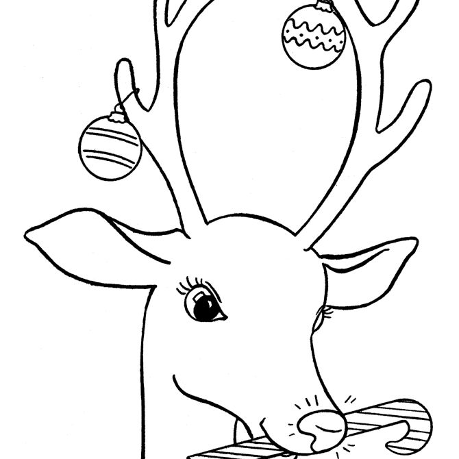christmas coloring pages at coloring pagenet rudolph with a candy cane