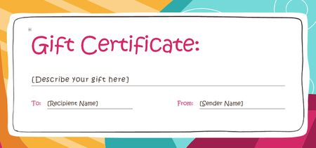 Free Gift Certificate Templates You Can Customize - Wording for gift certificate template