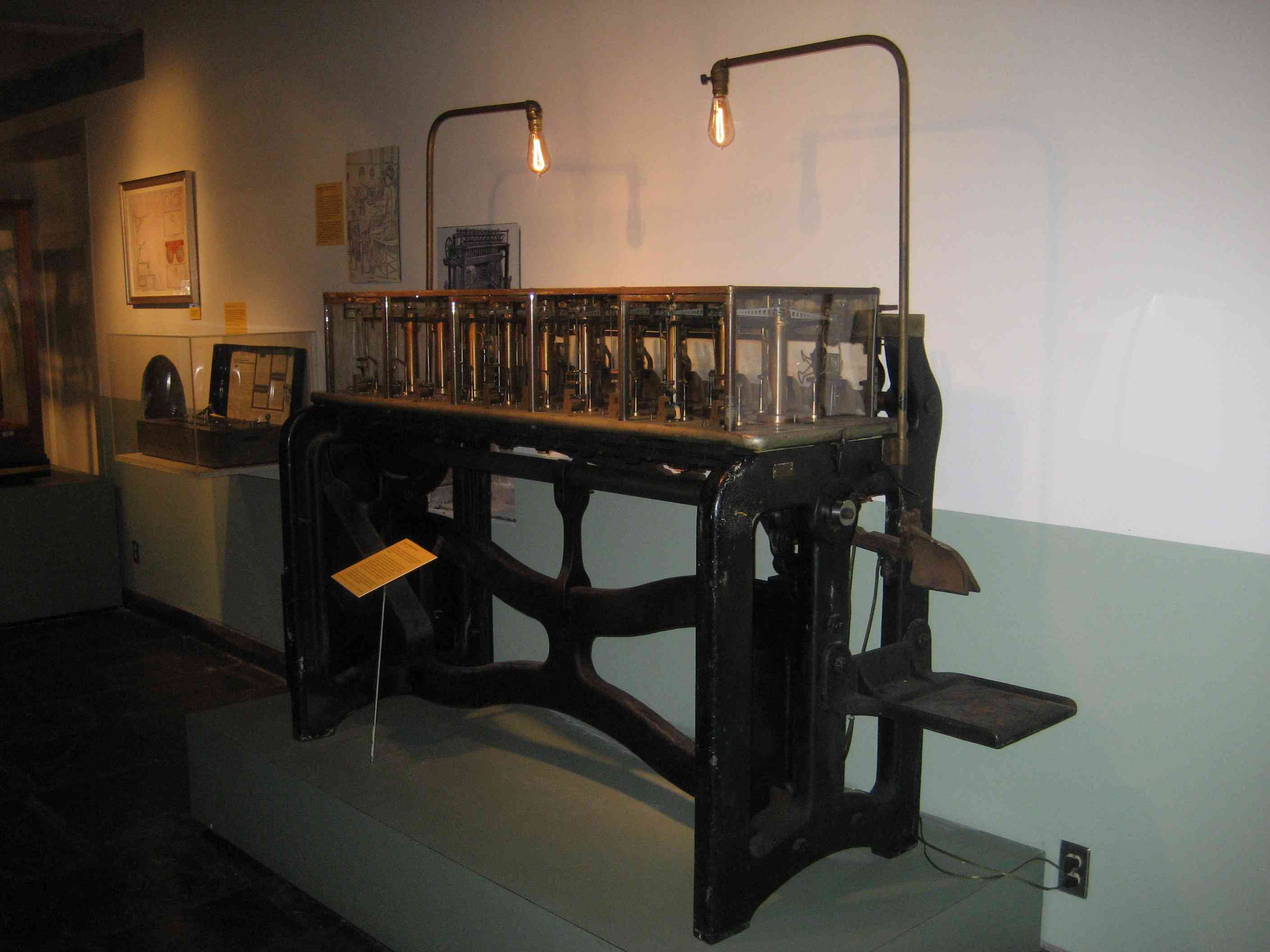Old New Orleans Mint, now a museum. Automatic Weighing Machine