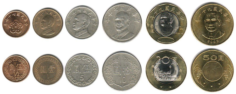 These coins are currently circulating in the Republic of China as money.