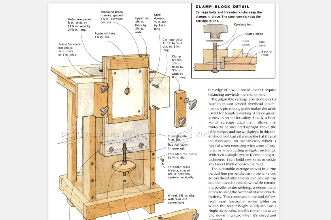11 Free Diy Router Table Plans You Can Use Right Now Craftsman Wiring Diagram Screenshot Of A From Woodarchivist Plan