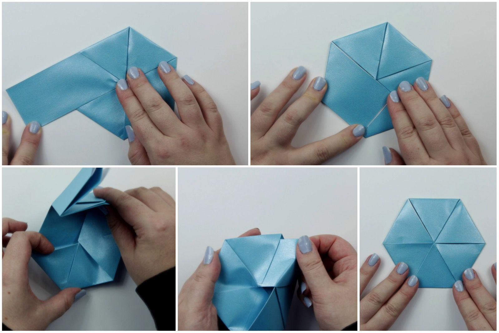 Make A Origami Hexagonal Letterfold Using A Paper