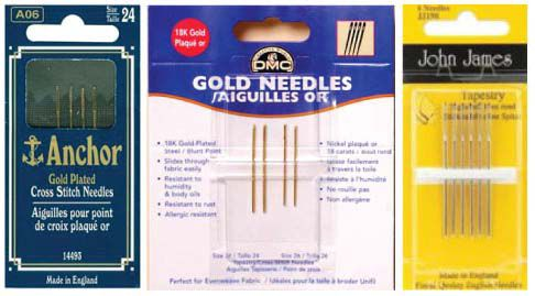 gold plated embroidery needles