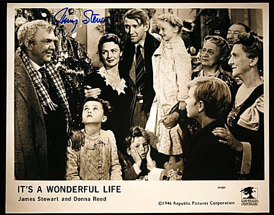 "George Bailey's Family Photo Autographed by James Stewart from ""It's a Wonderful Life"""