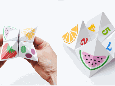 Teddy Bear Cootie Catcher - Origami for Kids - Easy Peasy and Fun | 300x400