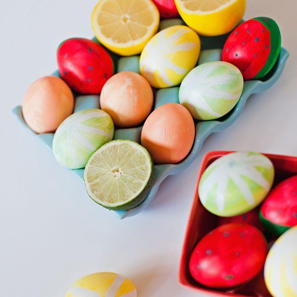 DIY Fruit Slice Easter Eggs