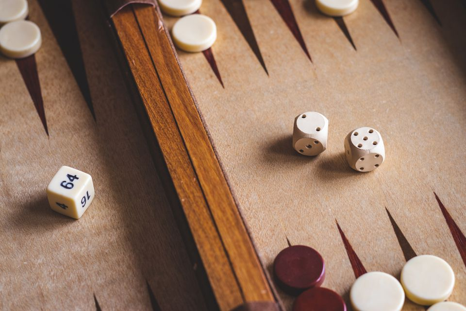 Backgammon board game.